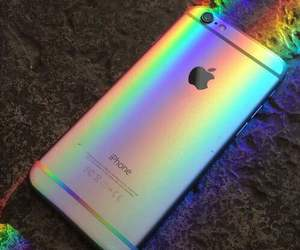iphone and rainbow image