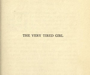 girl and tired image