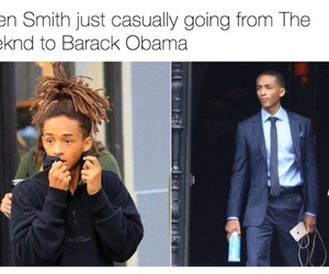 funny, jaden smith, and black and white image