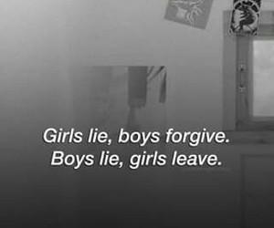 girl, boy, and lies image