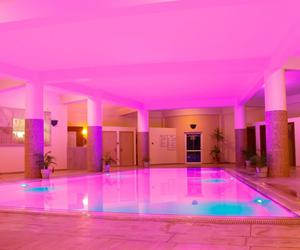 pink, pool, and glow image