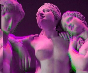 aesthetic, pink, and statue image