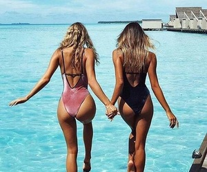 best friends, goals, and swimsuit image