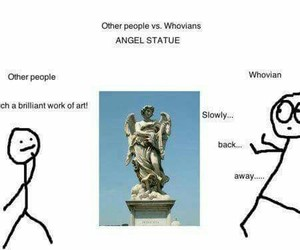 weeping angel, whovian, and doctor who image