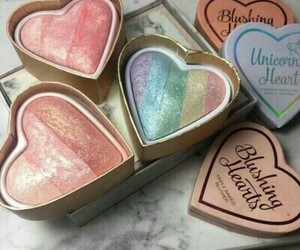 makeup, rainbow, and blush image