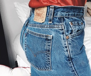 fashion, jeans, and levi's image