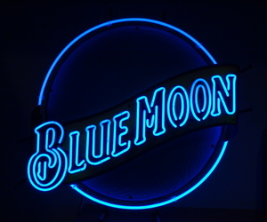 blue, neon, and moon image