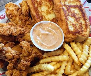 Chicken, food porn, and fries image