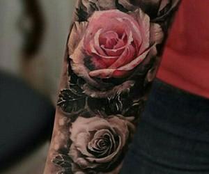 rose, tattoo, and beautiful image