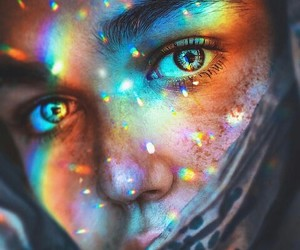 art, glow, and night image