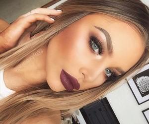 beauty, girl, and make-up image