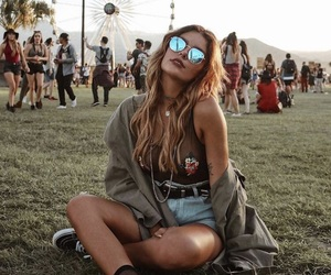 fashion, girl, and festival image