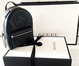 gucci, bag, and black image