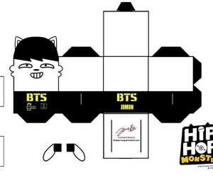 papercraft, bts, and hip hop monster image