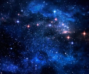 stars, blue, and space image