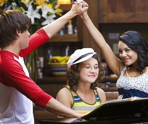 high school musical, vanessa hudgens, and zac efron image