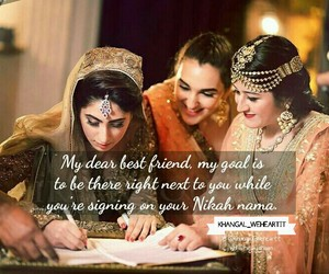 best friends, islam, and wedding image