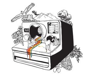 polaroid, camera, and illustration image