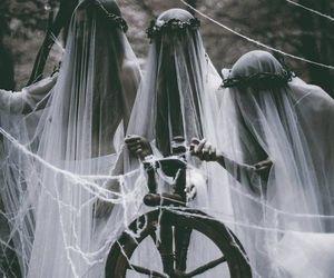 dark, witch, and white image