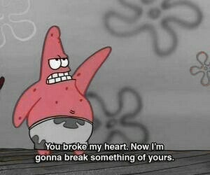 patrick, heart, and spongebob image
