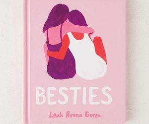 besties, book, and hug image