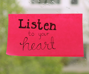 heart, listen, and pink image