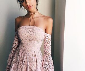 choker, dress, and fancy image