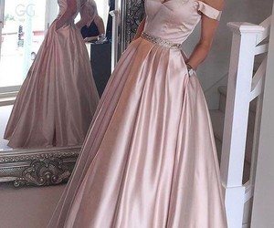 dress, beauty, and pink image