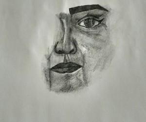 blanco, negro, and dibujo image