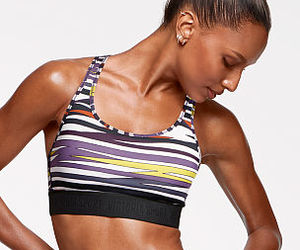 fit, multicolor, and sport bra image