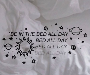 and, bed, and words image