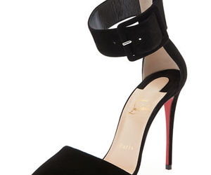 pump, red sole, and christian loubotin image