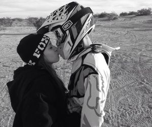 couple, motocross, and love image