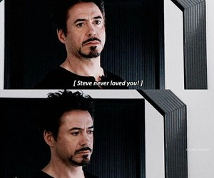 tony stark, stony, and steve rogers image