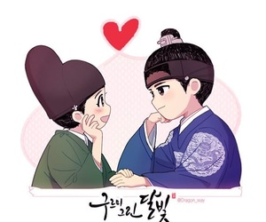 kim yoo jung, park bo gum, and moonlight drawn by clouds image