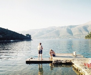 lake, summer, and friends image