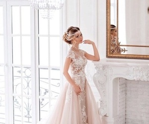beauty, bridal, and dress image