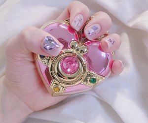 kawaii, nails, and pink image