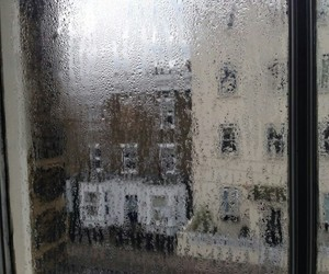 rain, grunge, and window image