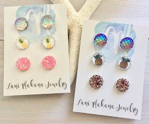 etsy, summer accessories, and stud earring set image