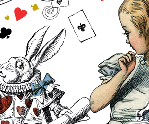 alice in wonderland, white rabbit, and wonderland image