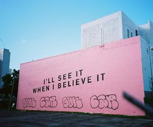 pink, quote, and art image