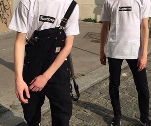 supreme, black&white, and fashion image
