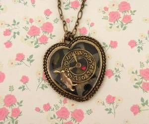 alice in wonderland, antique, and necklace image