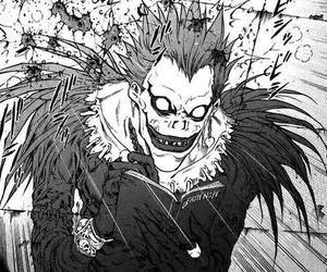 death note, ryuk, and manga image
