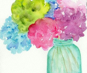 flowers and art image