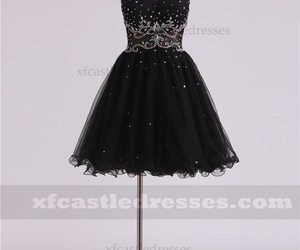 black homecoming dresses and a line homecoming dresses image