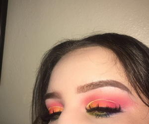 makeup, pride, and rainbow image