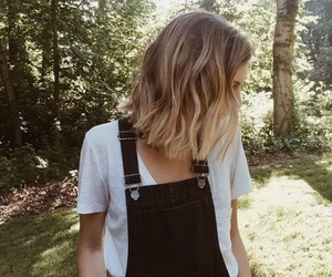 blond, waves, and haircut image