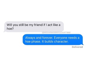 friendship, message, and text image
